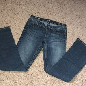 Denim boot cut jeans